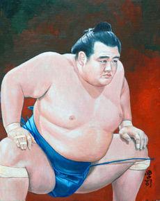 大相撲似顔絵展 日本似顔絵師協会 特選「大関琴奨菊」
