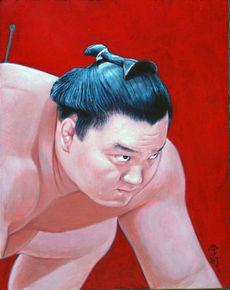 大相撲似顔絵展 毎日新聞 特別賞 「横綱白鵬」