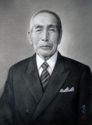 コンテ擦筆画「S氏の肖像」
