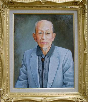 油彩肖像画「I氏の肖像」