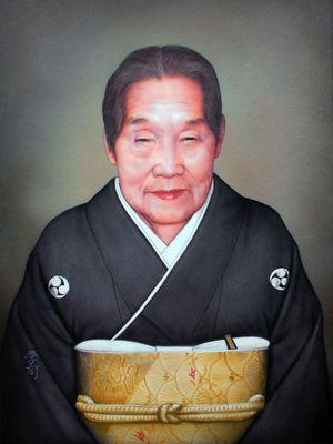 アクリルカラー肖像画