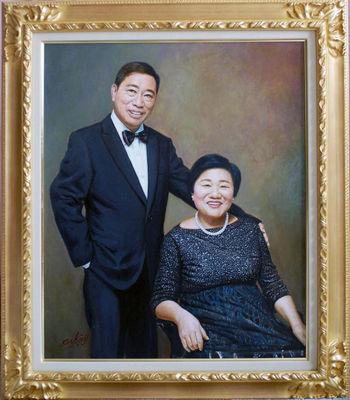 O御夫妻の肖像 F20号(727mm×606mm)