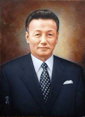 アクリル画 K氏の肖像