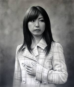 第60回 全日肖展入選作品 2013年 「夏弥さん」